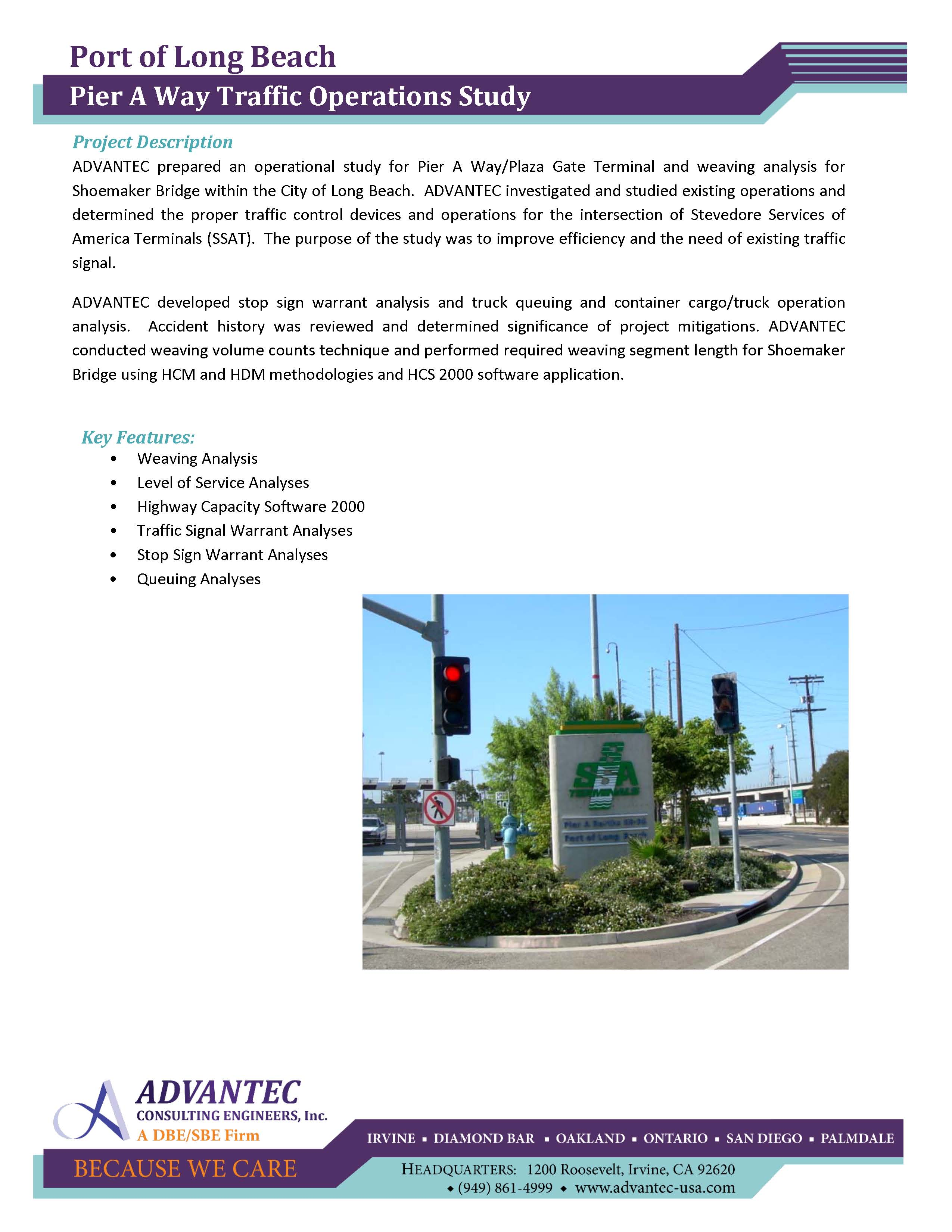 ^WEB-Port of Long Beach-Pier A Way Traffic Operations Study